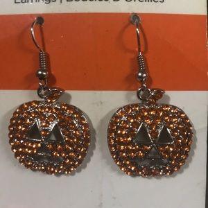 Earrings - sparkley pumpkin earrings